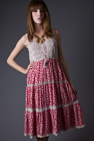 crochet top telltale hearts vintage dress
