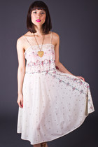 Vintage Sheer Slip Dress in Ivory