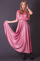 Vintage Cape Top Maxi in Dusty Rose