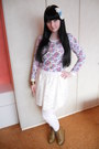 Pink-atmosphere-sweater-white-new-yorker-tights-white-dunnes-skirt