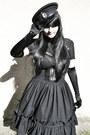 Black-vintage-hat-black-gate-tights-black-handmade-skirt-black-h-m-belt