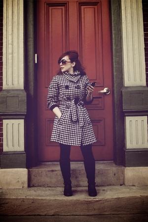 Esprit coat - HUE leggings - etienne aigner boots - Target sunglasses