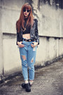 Harem-jean-choies-jeans-sheinside-jacket-femmex-bag-choies-sunglasses