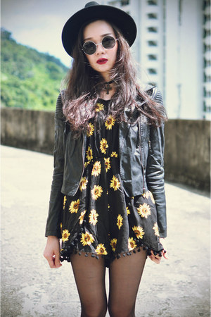 Dr Martens boots - Motel Rocks jacket - playsuit Choies suit