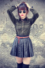 Udobuy-shirt-leather-skirt