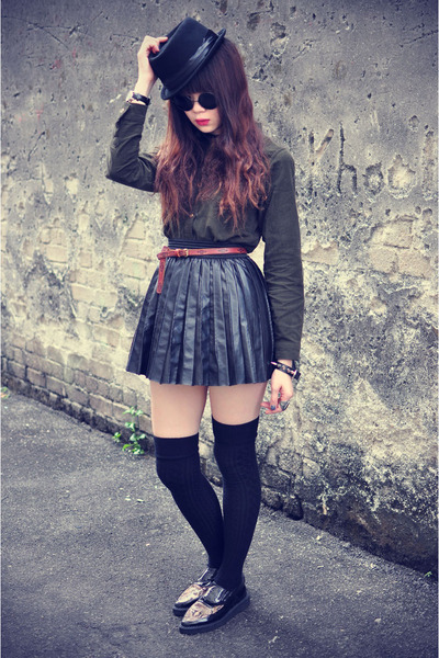 Udobuy shirt - leather skirt