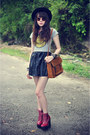 Leather-jeffrey-campbell-boots-forever-21-hat-leather-skirt