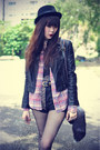 Forever-21-hat-faux-leather-motel-rocks-jacket-shirt-choies-bag