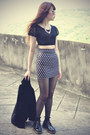 Velvet-blazer-round-sunglasses-top-stud-print-lovelysally-skirt