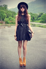 Dress-forever-21-hat-jeffrey-campbell-heels