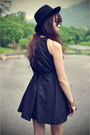 Dress-forever-21-hat-jeffrey-campbell-heels
