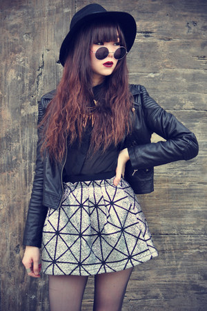 theeditorsmarket skirt - lita Jeffrey Campbell boots - hat