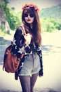Boots-star-sweater-backpack-bag-denim-shorts-shorts