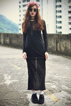 creepers shoes - maxi dress StyleMoi dress - socks - sunglasses