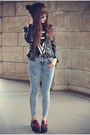 Topshop-jeans-pu-leather-sheinside-jacket-round-sunglasses
