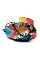 coral leather chain Beatniq Designs bracelet