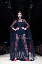 lace cape black DMC dress