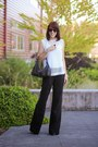 Black-wide-leg-gucci-pants-white-zara-top