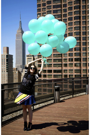 black Jennifer Chun shirt - Zara shoes - silk Jennifer Chun skirt