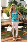 White-zara-pants-hot-pink-zara-blazer-louis-vuitton-bag-white-heels