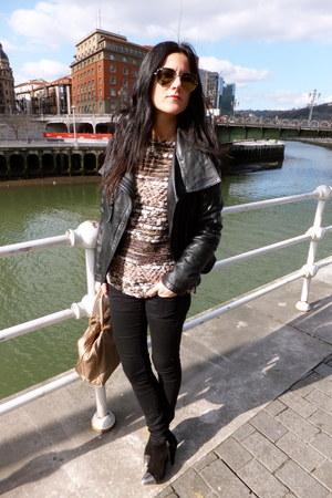 Zara sweater - Mango jeans - Zara jacket - loewe bag