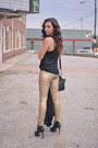 Gold-j-brand-leggings