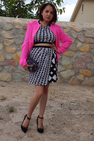 black Peter Pilotto For Target top - hot pink Charlotte Russe jacket