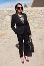 Black-forever-21-blazer-black-charlotte-russe-pants-hot-pink-jcpenney-heels