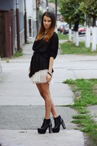 Jeffrey Campbell shoes - H&M dress - Chanel wallet - Topshop blouse