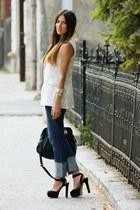 ROCKY jeans - H&M bag - Zara sandals - Topshop top - MNG vest