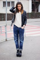 Jeffrey Campbell boots - Diesel jeans - Bershka blouse