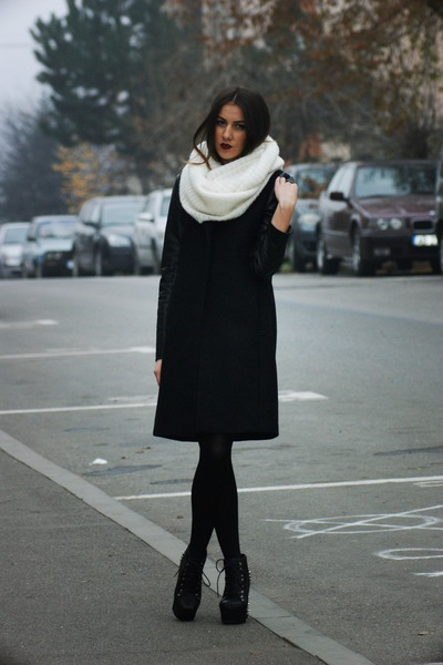 H&amp;M scarf - Jeffrey Campbell boots - Zara coat - H&amp;M socks