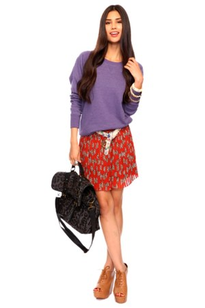 bronze booties Forever 21 boots - amethyst pullover Forever 21 jacket