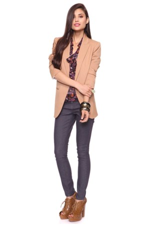 booties Forever 21 boots - polyester Forever 21 blazer