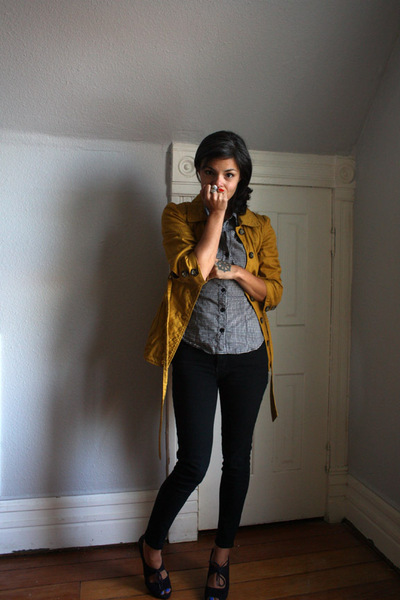 Forever 21 jacket - H&M shirt - BDG pants - Fiori for Payless shoes