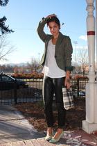 h&m via thrift blazer - Hanes top - vintage Ungaro via Ebay pants - thrifted in