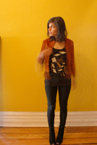 vintage jacket - truly madly deeply shirt - BDG pants - deena and ozzy boots
