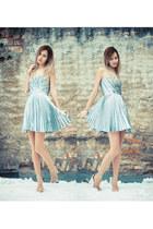 metallic asos heels