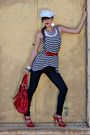 Blue-forever-21-jeans-red-belt-red-bebe-shoes-red-purse-white-top