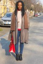 black Primark boots - blue ovs jeans - new look necklace