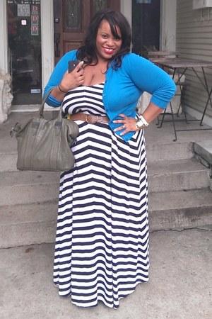 merona cardigan - Old Navy dress - Rachel Zoe bag - Old Navy belt
