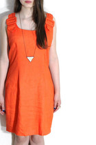 1990s Vintage Orange Peach Mini Dress Size Medium