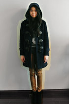 black Jeffrey Campbell boots - navy Ralph Lauren coat