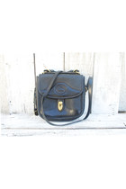 Vintage Dooney and Bourke Square Carrier Purse- All Black Leather