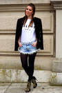 Black-studded-zara-jacket-white-inspired-celine-shirt