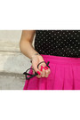 Hot-pink-bershka-skirt-black-collar-h-m-shirt-silver-tiffany-co-earrings