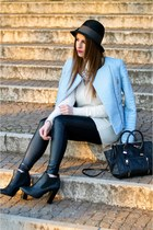 light blue Zara jacket - black Zign boots