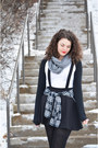 Black-pinafore-h-m-dress-charcoal-gray-h-m-scarf