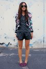 Black-leather-oasap-shorts