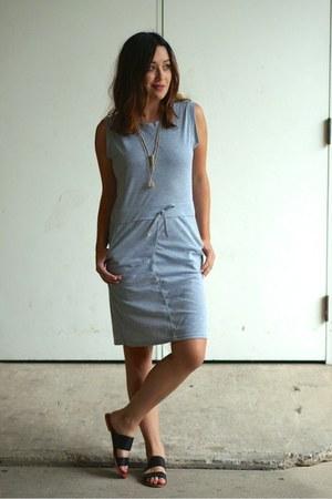 silver OASAP dress - black asos sandals